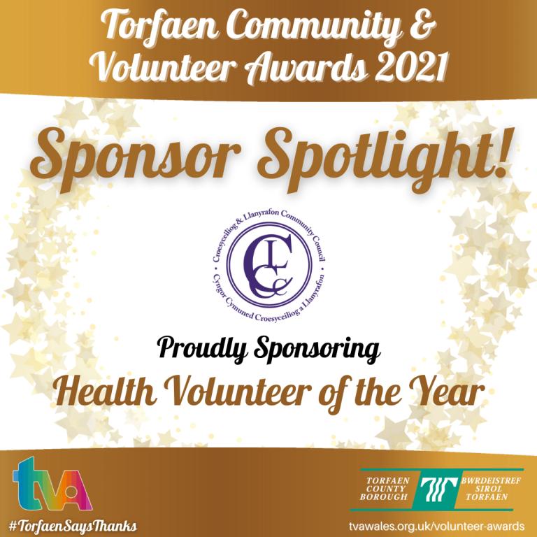 #TorfaenSaysThanks Sponsor Spotlight Croesyceiliog & Llanyrafon Community Council #HealthVolunteer